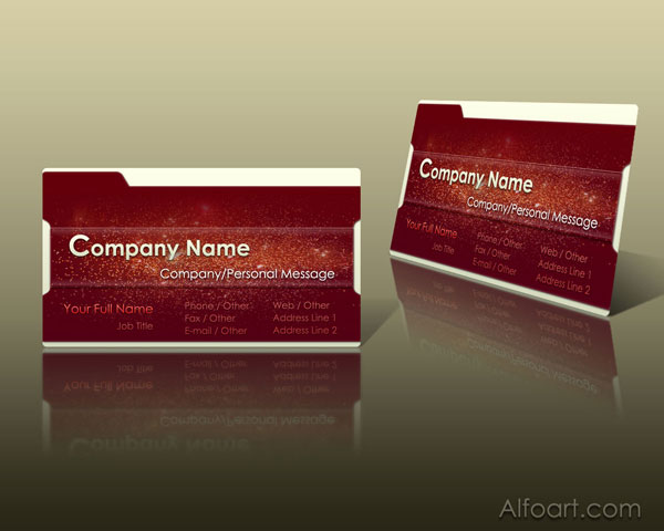 Red Business card layout.Basic Logo