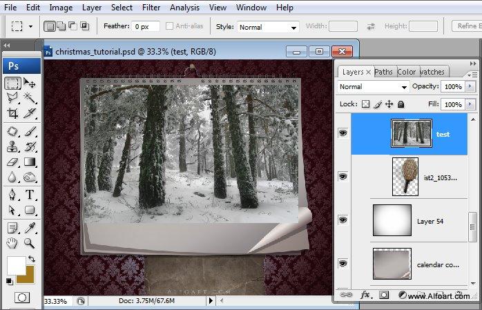 Học 1%20%2818%29 Tạo Cảnh Rừng Thông Noel Thật Tráng Lệ trong Photoshop