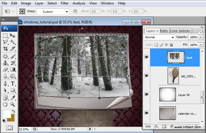 Học 1%20%2820%29 Tạo Cảnh Rừng Thông Noel Thật Tráng Lệ trong Photoshop