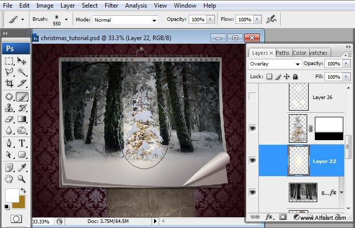 Học 1%20%2829%29 Tạo Cảnh Rừng Thông Noel Thật Tráng Lệ trong Photoshop