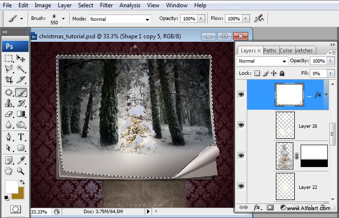 Học 1%20%2831%29 Tạo Cảnh Rừng Thông Noel Thật Tráng Lệ trong Photoshop