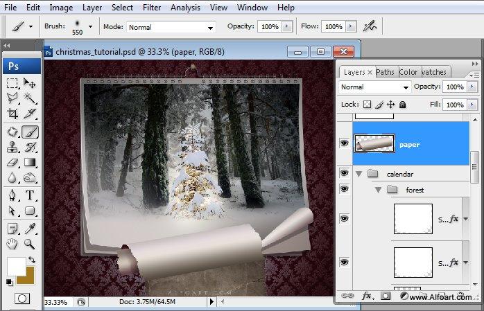 Học 1%20%2837%29 Tạo Cảnh Rừng Thông Noel Thật Tráng Lệ trong Photoshop