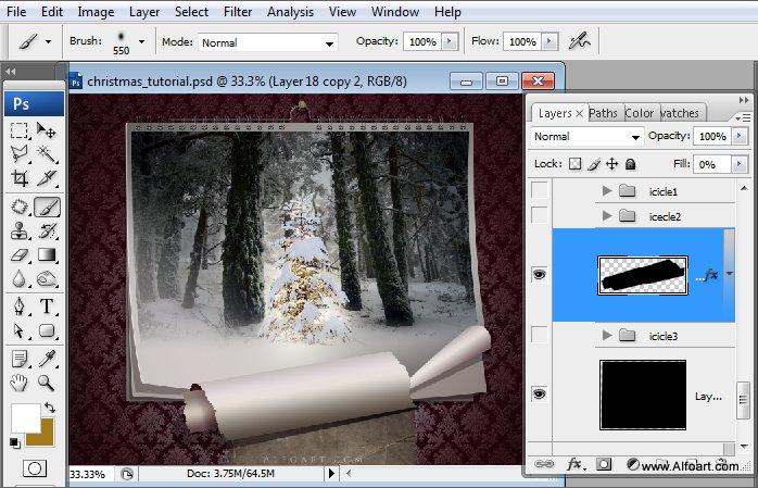 Học 1%20%2838%29 Tạo Cảnh Rừng Thông Noel Thật Tráng Lệ trong Photoshop