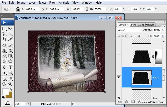 Học 1%20%2857%29 Tạo Cảnh Rừng Thông Noel Thật Tráng Lệ trong Photoshop
