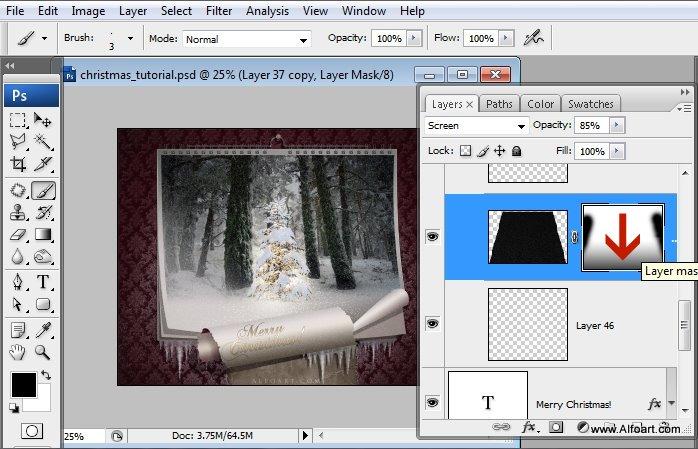 Học 1%20%2858%29 Tạo Cảnh Rừng Thông Noel Thật Tráng Lệ trong Photoshop