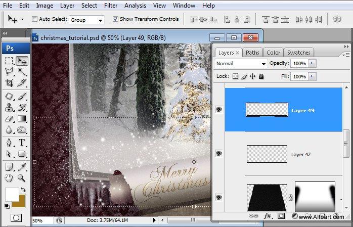 Học 1%20%2860%29 Tạo Cảnh Rừng Thông Noel Thật Tráng Lệ trong Photoshop
