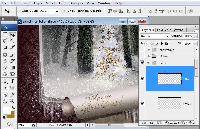 Học 1%20%2861%29 Tạo Cảnh Rừng Thông Noel Thật Tráng Lệ trong Photoshop