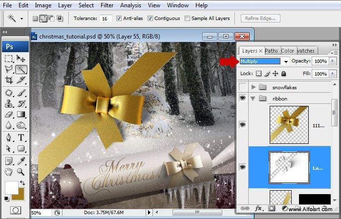 Học 1%20%2863%29 Tạo Cảnh Rừng Thông Noel Thật Tráng Lệ trong Photoshop