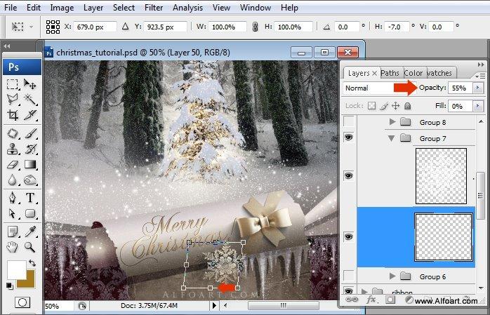 Học 1%20%2872%29 Tạo Cảnh Rừng Thông Noel Thật Tráng Lệ trong Photoshop