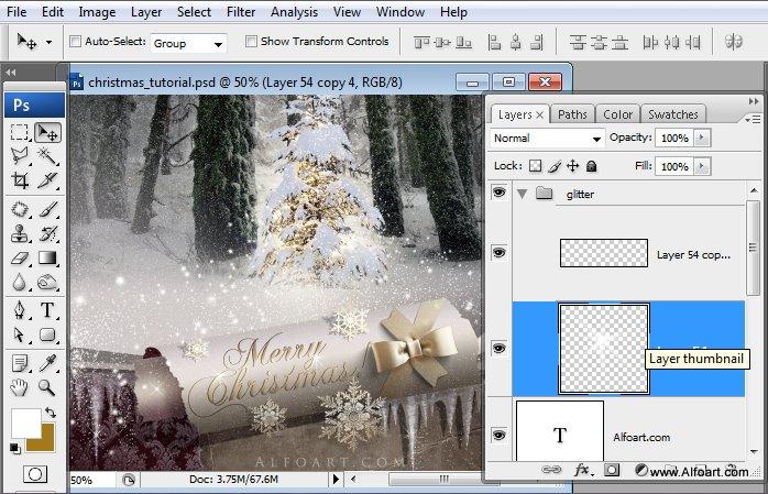 Học 1%20%2876%29 Tạo Cảnh Rừng Thông Noel Thật Tráng Lệ trong Photoshop
