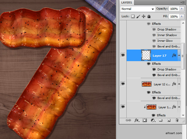 Learn how to create 3d fast food text effect. This Adobe Photoshop tutorial teaches how to apply fast food skin texture and light reflections to the 3d letters