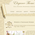 Elegance wallpaper theme. Template design for wordpress blog