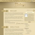 Vintage style Wordpress theme WebDesign tutorial