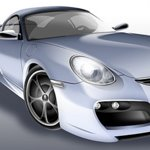 Porsche digital rendering photoshop tutorial