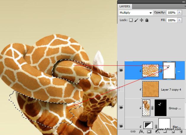 In this Photoshop tutorial  learn how to create comicscene with realistic giraffe neck knot and apply spotted texture to it