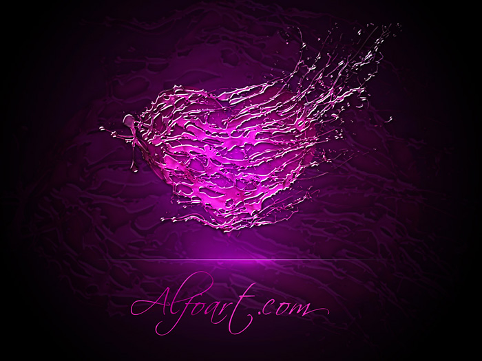 Valentine's Day Photoshop ideas. Shiny heart on the dark background
