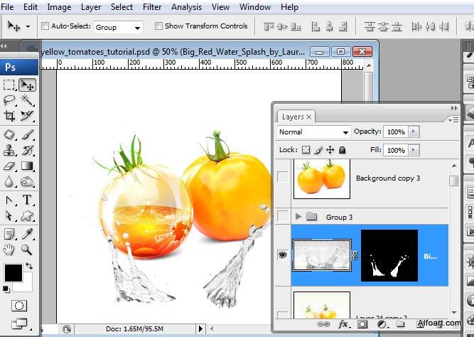huong dan Photoshop - Tạo Hình Quả Cà Chua Thủy Tinh Độc Đáo trong Photoshop