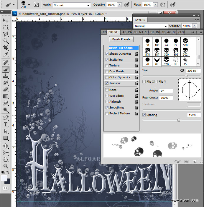Halloween Card How to create letters from pumpkin image with photoshop Free pumpkin brushes