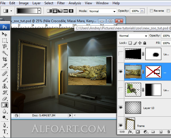 lcd plasma alive tv , midnight magic, zoo, zebra, crocodile, tv set, interior, mysterious room, horror room.