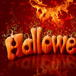 Halloween Style Font, How to create letters from pumpkin image