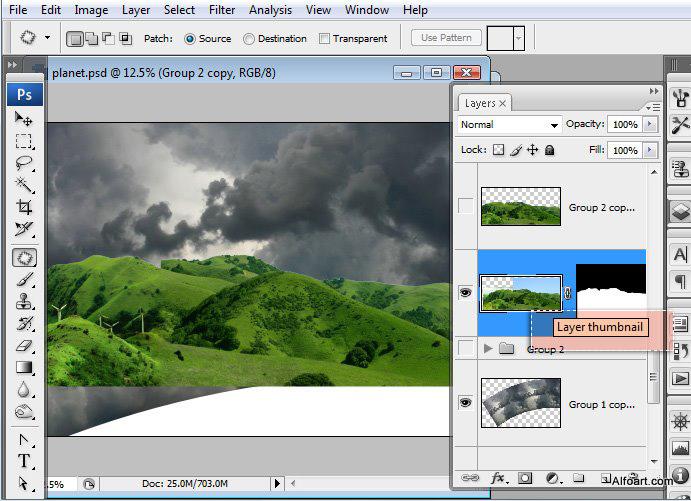 Học 1%20%2813%29 Xây Dựng Tòa Lâu Đài trên Mây trong Photoshop
