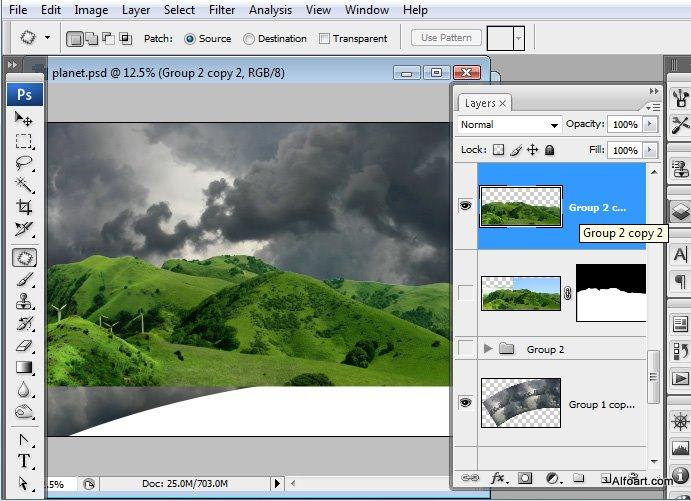 Học 1%20%2814%29 Xây Dựng Tòa Lâu Đài trên Mây trong Photoshop