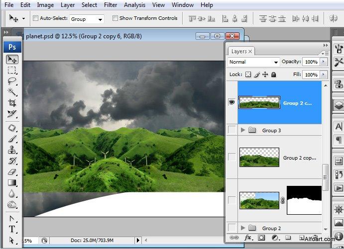 Học 1%20%2816%29 Xây Dựng Tòa Lâu Đài trên Mây trong Photoshop