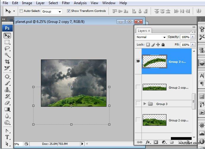 Học 1%20%2818%29 Xây Dựng Tòa Lâu Đài trên Mây trong Photoshop