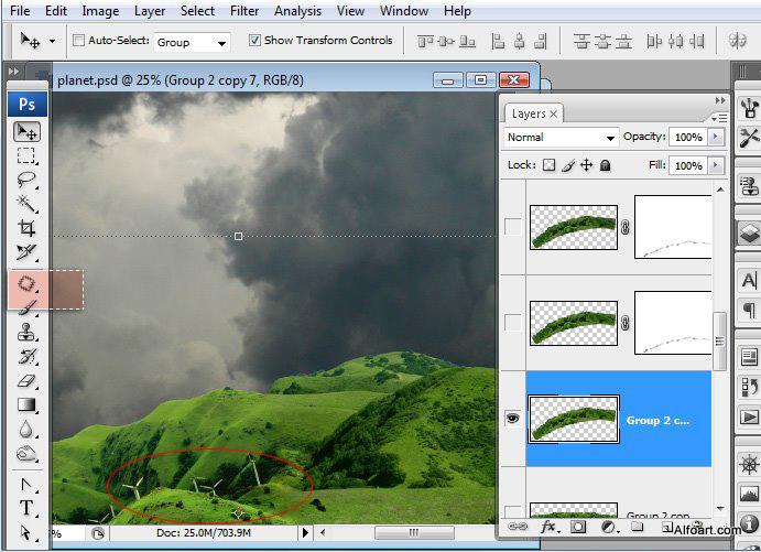 Học 1%20%2819%29 Xây Dựng Tòa Lâu Đài trên Mây trong Photoshop