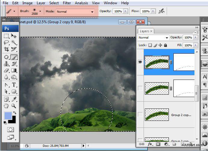 Học 1%20%2822%29 Xây Dựng Tòa Lâu Đài trên Mây trong Photoshop
