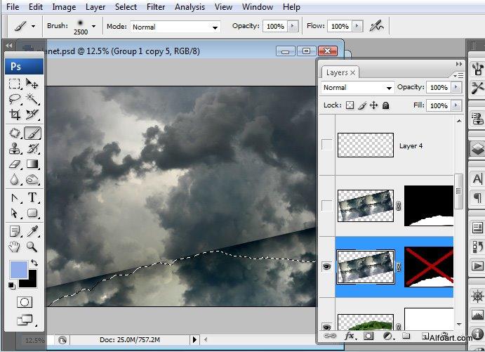 Học 1%20%2825%29 Xây Dựng Tòa Lâu Đài trên Mây trong Photoshop