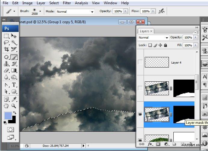 Học 1%20%2826%29 Xây Dựng Tòa Lâu Đài trên Mây trong Photoshop