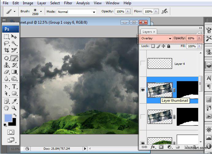 Học 1%20%2827%29 Xây Dựng Tòa Lâu Đài trên Mây trong Photoshop