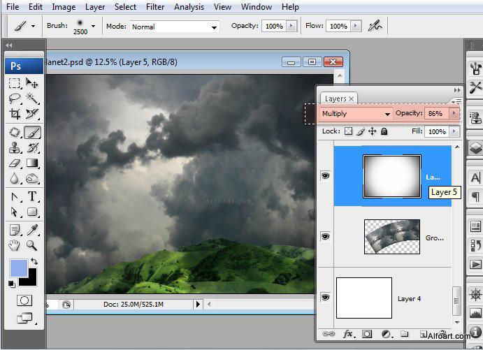 Học 1%20%2828%29 Xây Dựng Tòa Lâu Đài trên Mây trong Photoshop