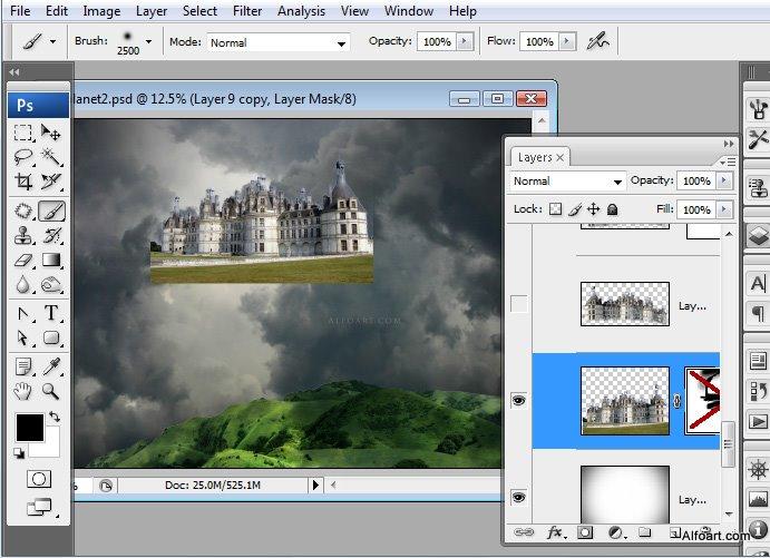 Học 1%20%2829%29 Xây Dựng Tòa Lâu Đài trên Mây trong Photoshop
