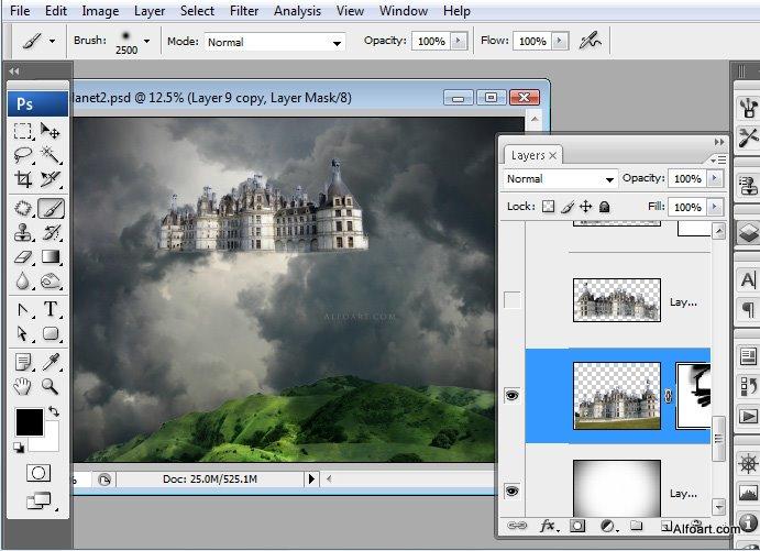 Học 1%20%2830%29 Xây Dựng Tòa Lâu Đài trên Mây trong Photoshop