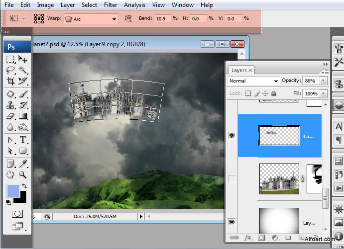 Học 1%20%2831%29 Xây Dựng Tòa Lâu Đài trên Mây trong Photoshop