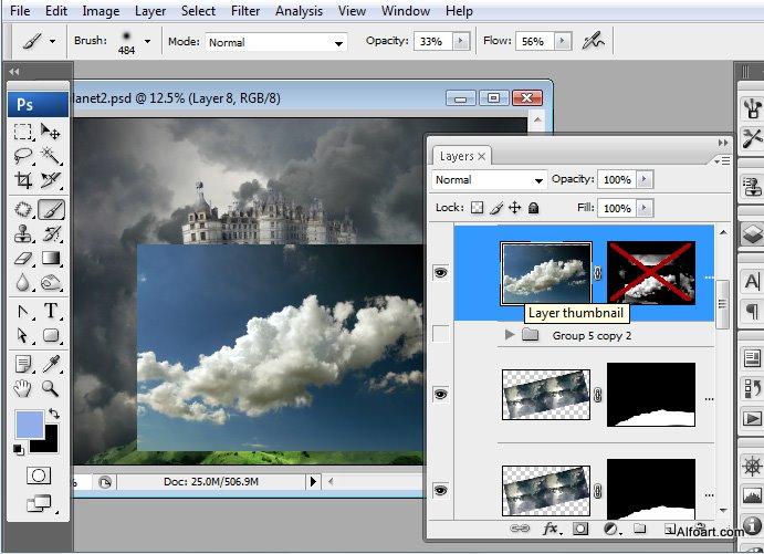 Học 1%20%2834%29 Xây Dựng Tòa Lâu Đài trên Mây trong Photoshop