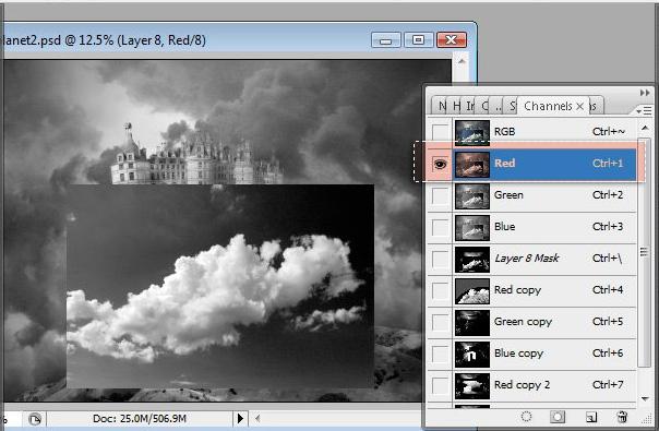 Học 1%20%2835%29 Xây Dựng Tòa Lâu Đài trên Mây trong Photoshop