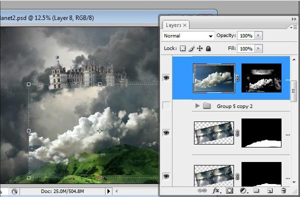 Học 1%20%2838%29 Xây Dựng Tòa Lâu Đài trên Mây trong Photoshop