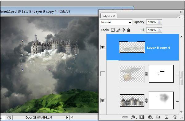Học 1%20%2840%29 Xây Dựng Tòa Lâu Đài trên Mây trong Photoshop