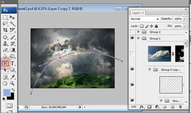 Học 1%20%2844%29 Xây Dựng Tòa Lâu Đài trên Mây trong Photoshop