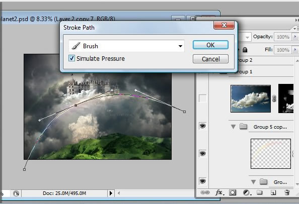 Học 1%20%2845%29 Xây Dựng Tòa Lâu Đài trên Mây trong Photoshop