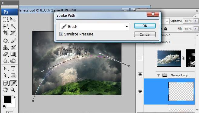 Học 1%20%2846%29 Xây Dựng Tòa Lâu Đài trên Mây trong Photoshop