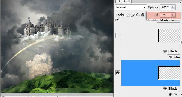 Học 1%20%2849%29 Xây Dựng Tòa Lâu Đài trên Mây trong Photoshop