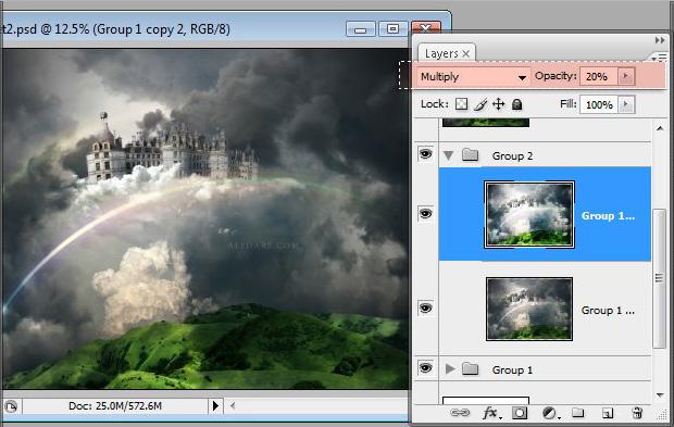 Học 1%20%2855%29 Xây Dựng Tòa Lâu Đài trên Mây trong Photoshop