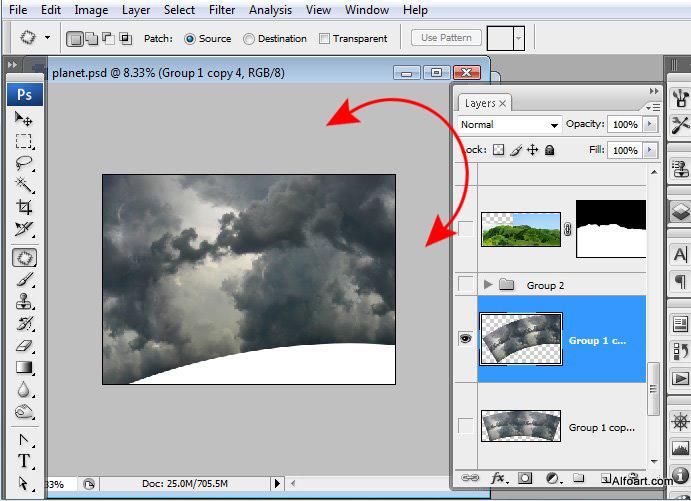 Học 1%20%289%29 Xây Dựng Tòa Lâu Đài trên Mây trong Photoshop