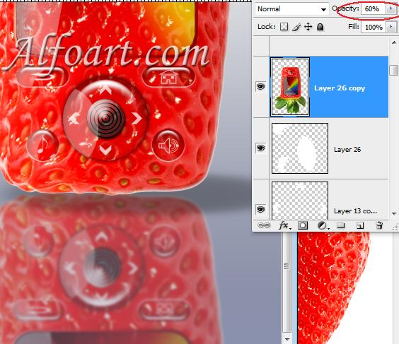 Strawberry Mobile Phones on Coolest Gadgets in Adobe Photoshop
