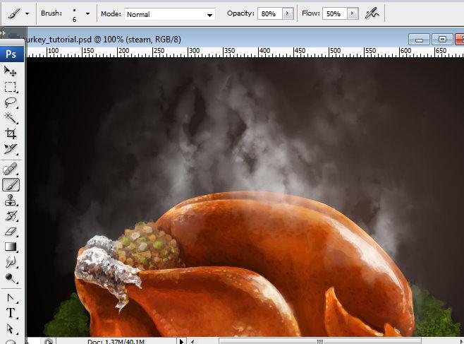 Làm Món Gà Nướng Thật Ngon trong Photoshop