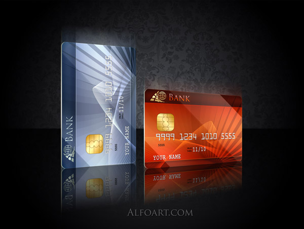 Bautiful credit card design, stylish credit card, psd template, psd files